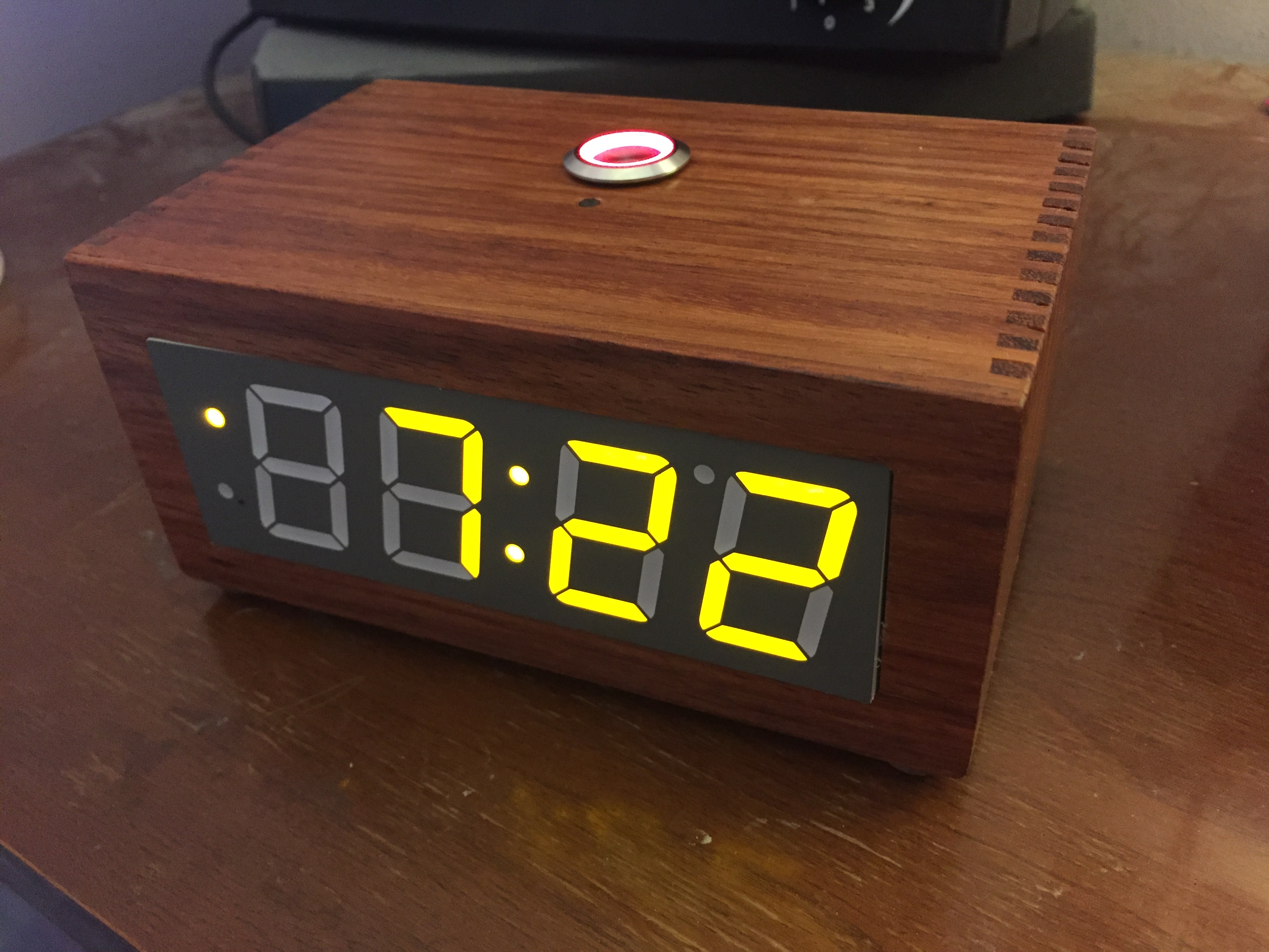 Orange Agate Segment Clock