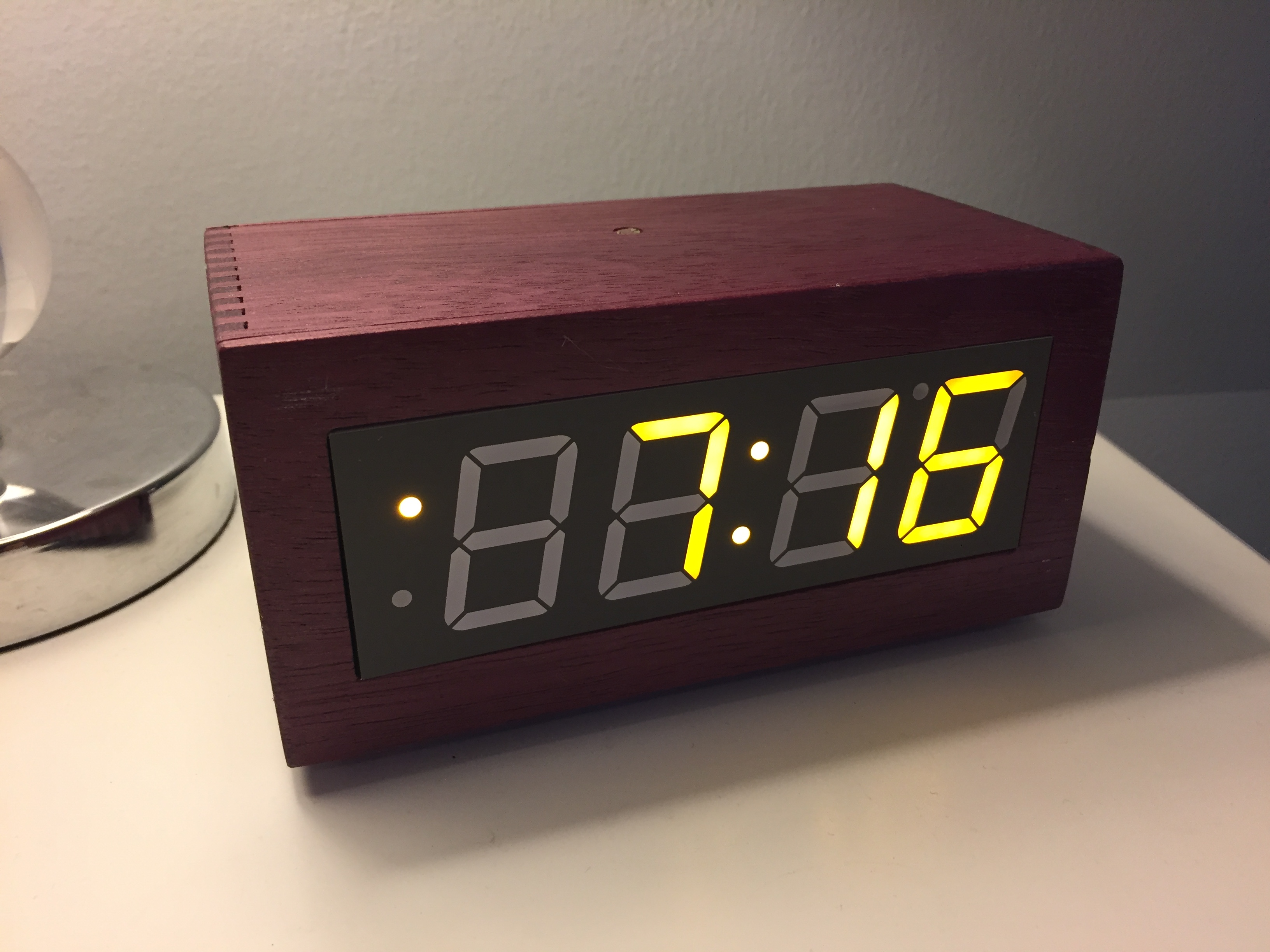 Purple Heart Segment Clock