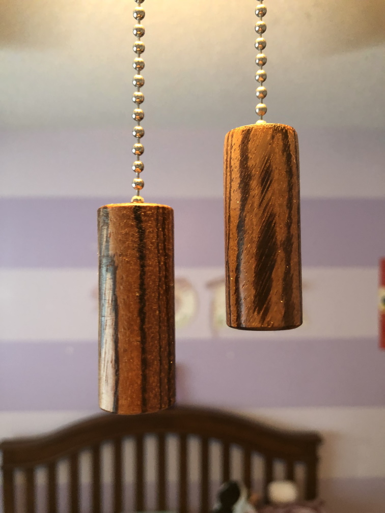 Zebra Wood Fan Pulls